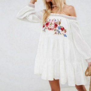 NWT Free People gypsy off shoulder Mini dress